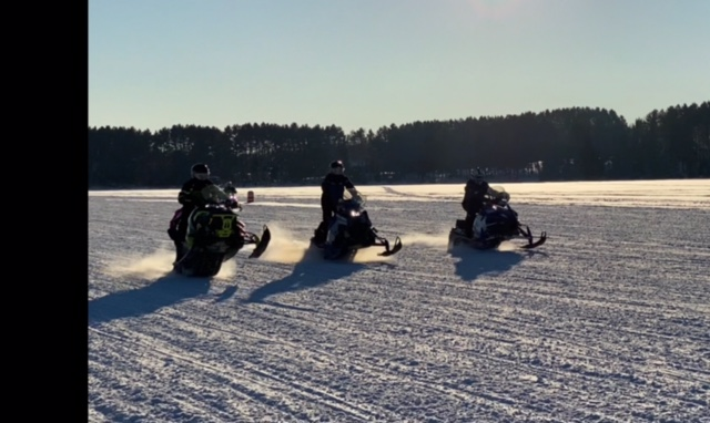 Wilderness Bay Lodge and Resort Snowmobiling on the Cisco Chain